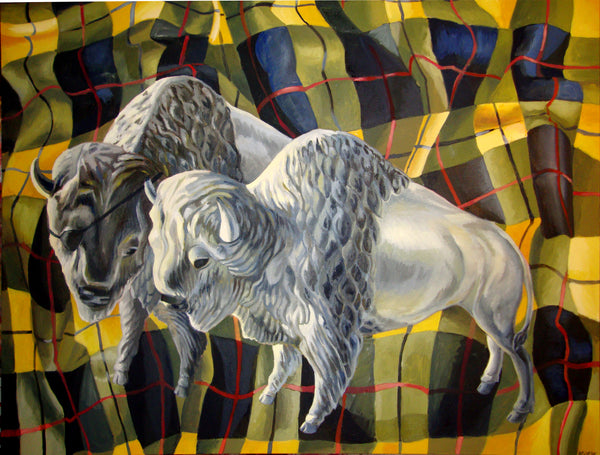 "Cyclops Bison 36"" x 48"""
