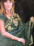 Dark Green Saree