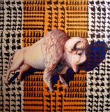 "Houndstooth Bison 64"" x 64"""