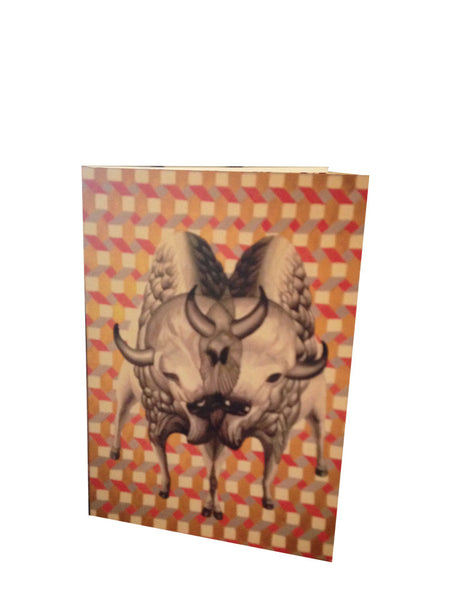 Double Bison Folding Card