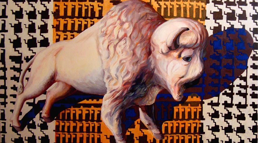 buffalo paintings by Rachel Srinivasan