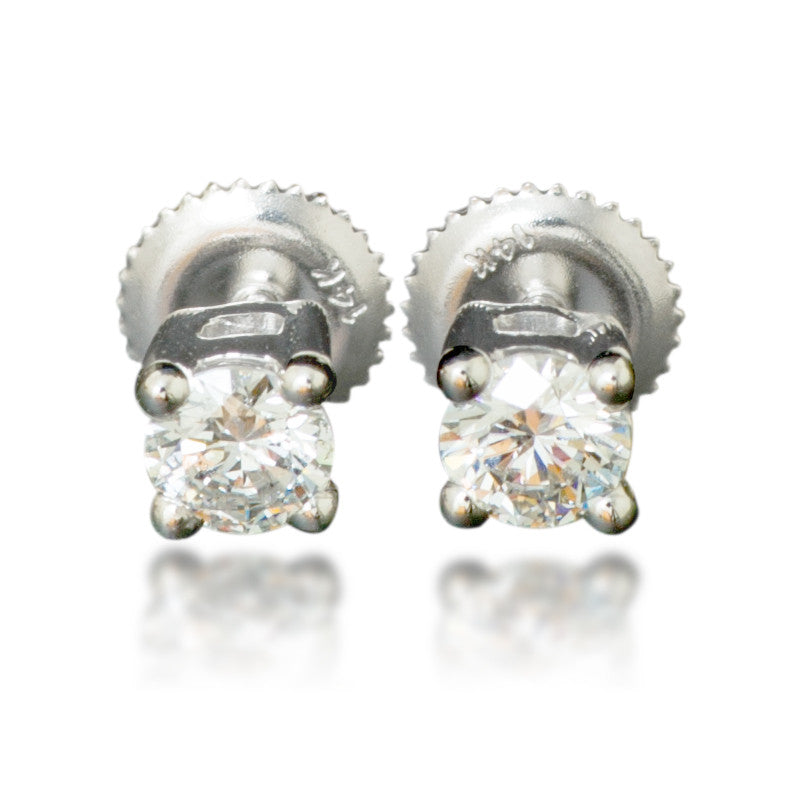 dimond floral devin diamond earrings stud