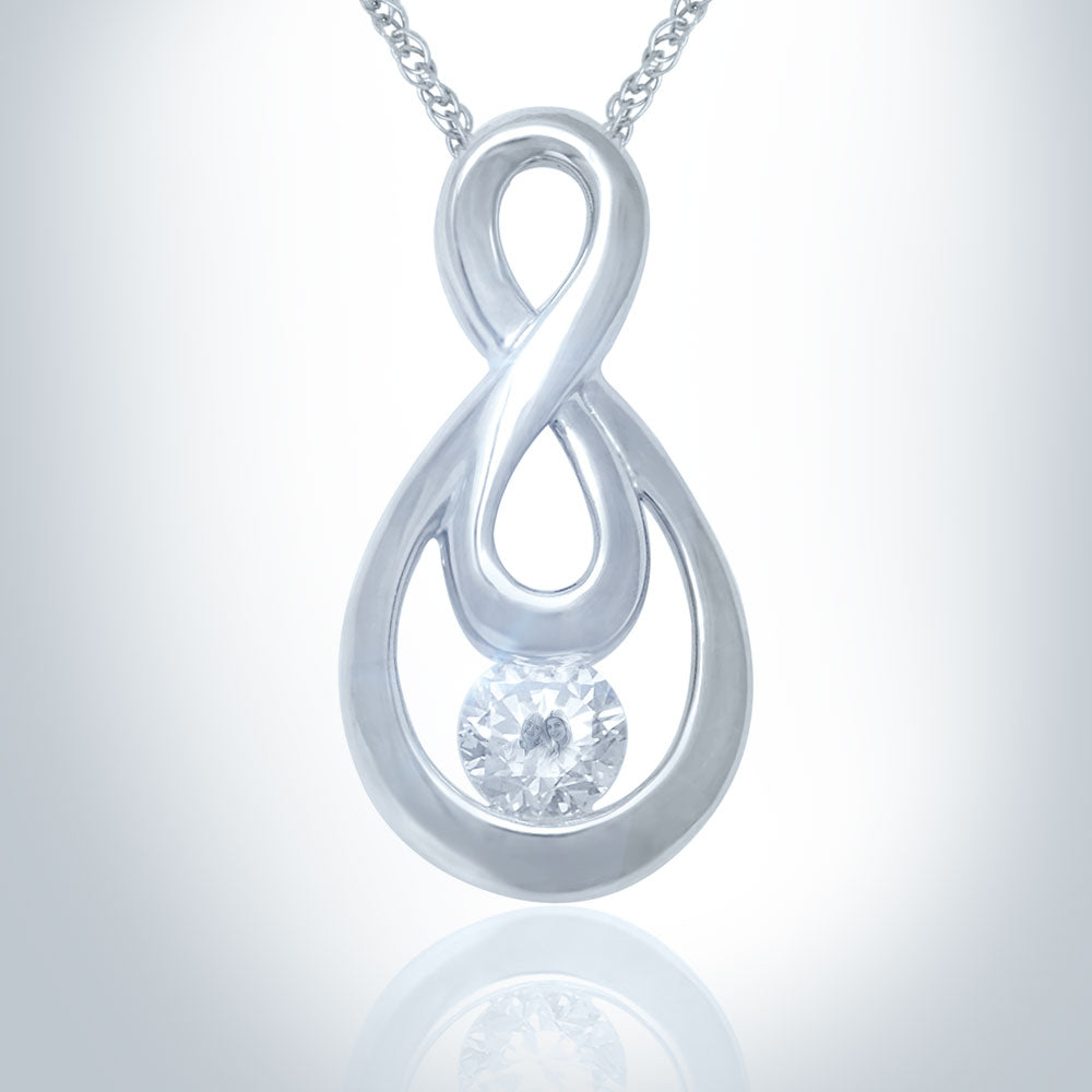 sterling bling figure az pendant infinity jewelry necklace love pfs silver