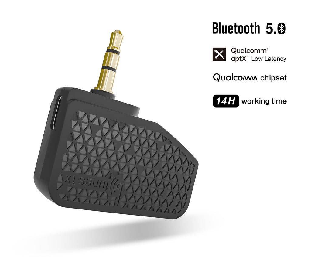 BTunes Flight Adapter Bluetooth 5.0 Transmitter Makes Headphone Jack Wireless