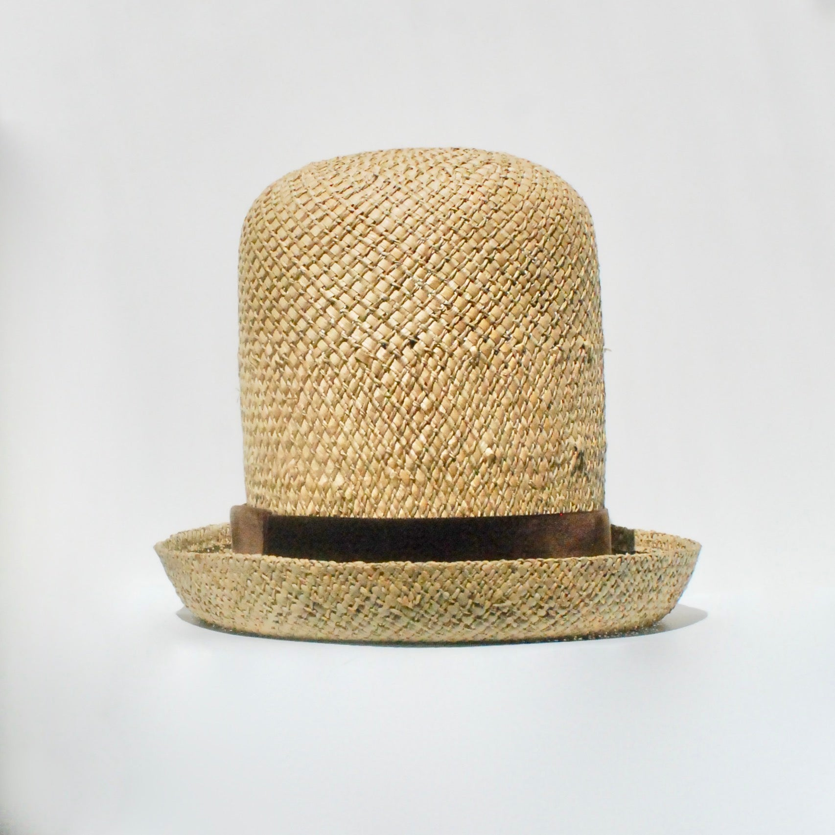 Yardie Crown (Straw with Brown Velvet)