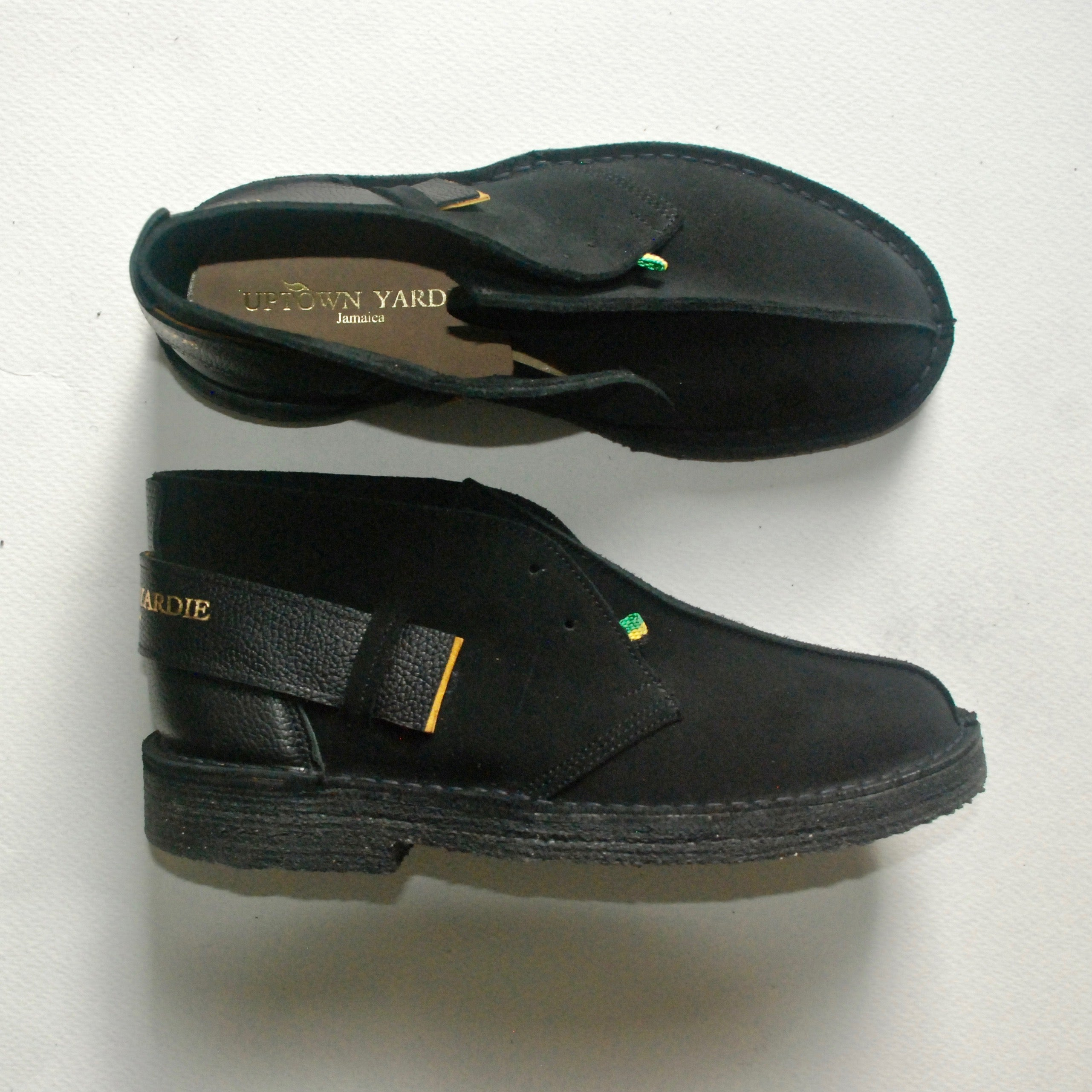 Yardie Boot Green Yellow Black