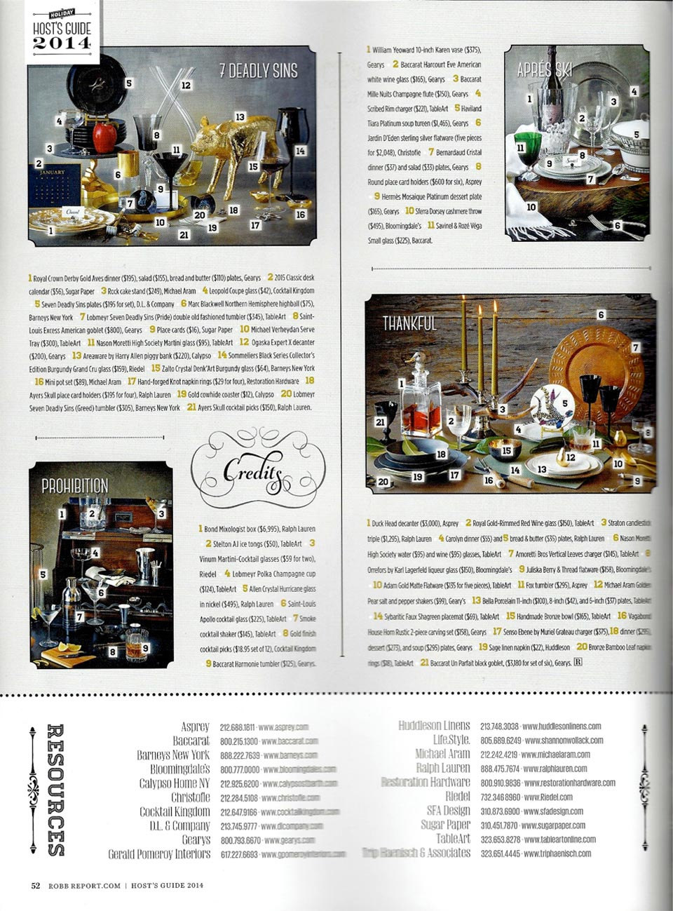 Sugar Paper in Robb Report Holiday 2014