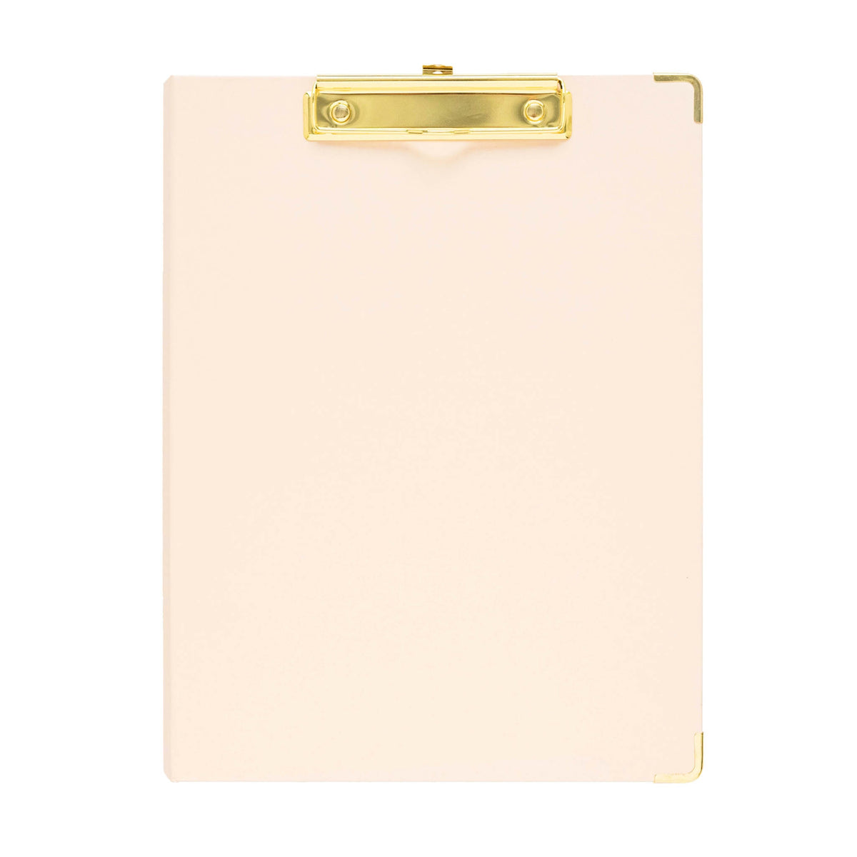 Pale pink with gold clip padfolio