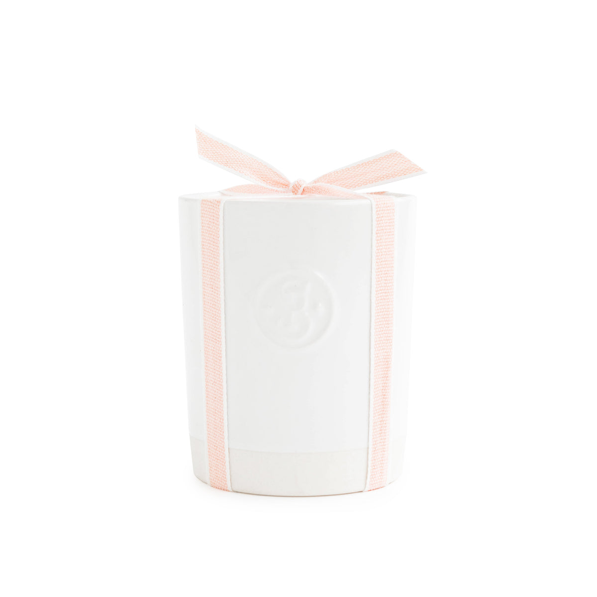 Ceramic Candle, Pale Pink Petal