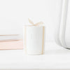 Ceramic Candle, Crisp White Linen
