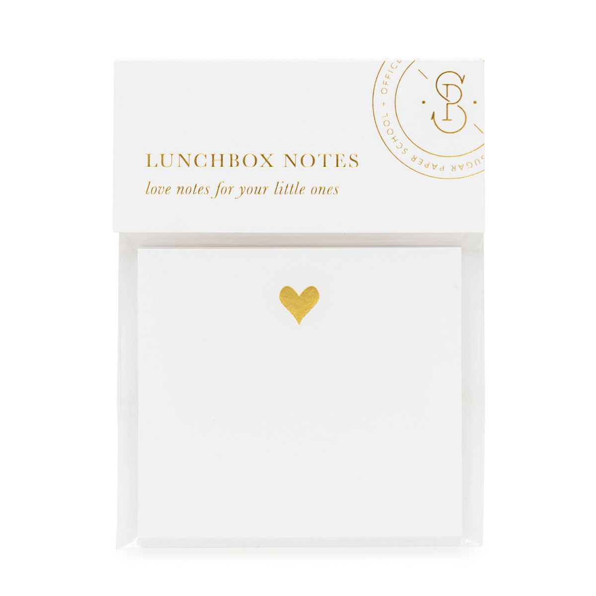 Packaged lunch box notes with gold heart - Love notes for your little ones.