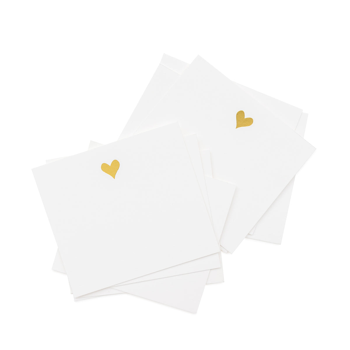 Tiny lunch box notes with gold foil heart
