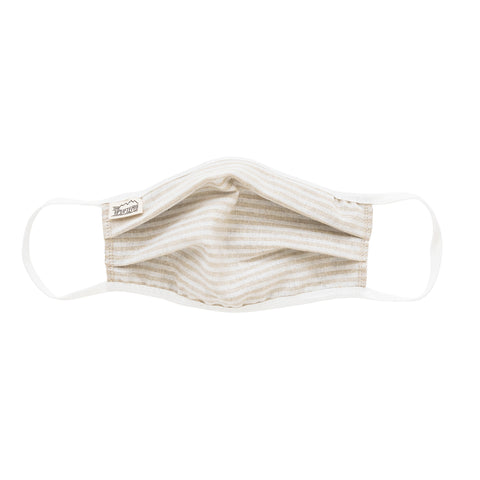 Flax Stripe Linen Mask