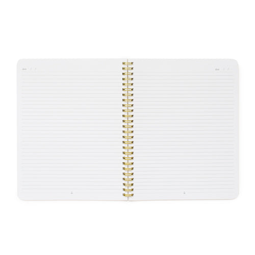 White lined notebook pages