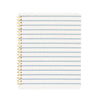 Blue and white stripe spiral notebook
