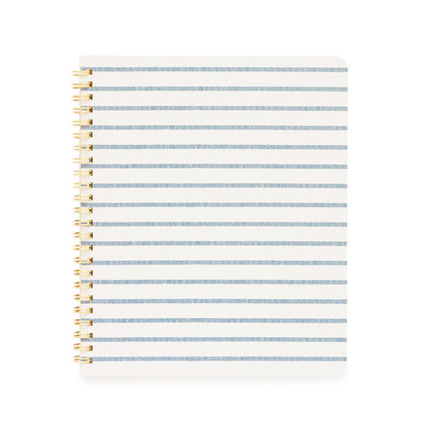 Blue Breton Stripe Notebook