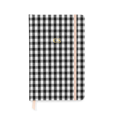 Essential Journal, Black and White Gingham