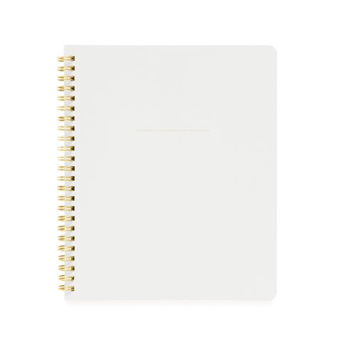 Spiral Notebook, White