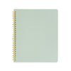 Office green spiral notebook with gold foil details