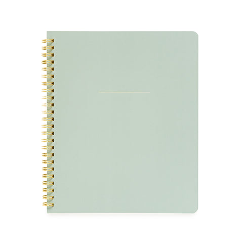 Spiral Notebook, Office Green