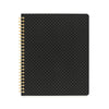 Black with gold pindot spiral notebook