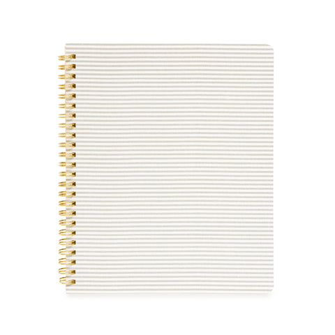 Spiral Notebook, Grey Stripe