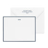 White and navy stationery set with initials