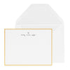 Gold bordered custom stationery with hand lettered name and heart