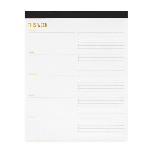 Weekly Pad, Large, Black