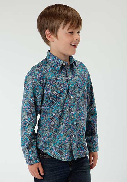 Roper Boys Paisley Long Sleeve Shirt