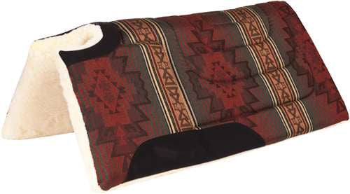 Ozark Leather Company Southwest Print Built Up And Cut Back Saddle Pad 11112