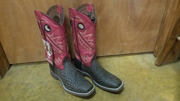 Nocona Mens Bark Cherokee Red Top Cowboy Boot