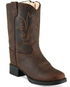 Old West Toddler Leather Cowboy Boot