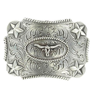 Nocona Kids Rectangle Star Longhorn Buckle