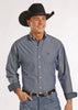 Panhandle Select Mens Blue Pearl Snap Western Shirt