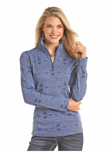 Powder River Women's Blue Aztec Henley