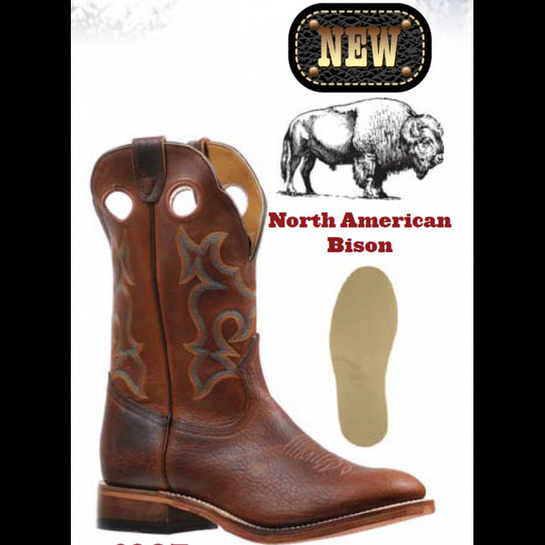 Boulet Mens Bisonte Utta Whisky Cowboy Boot 6327