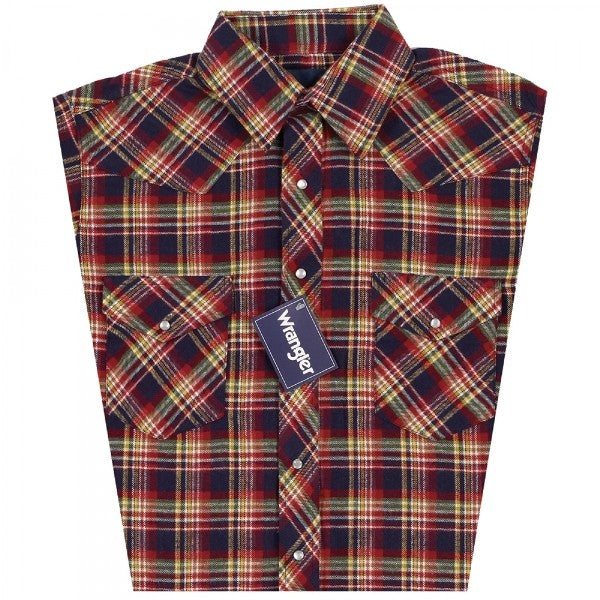 Wrangler Mens Plaid Flannel Sport Western Long Sleeve Shirt *Assorted Colors*