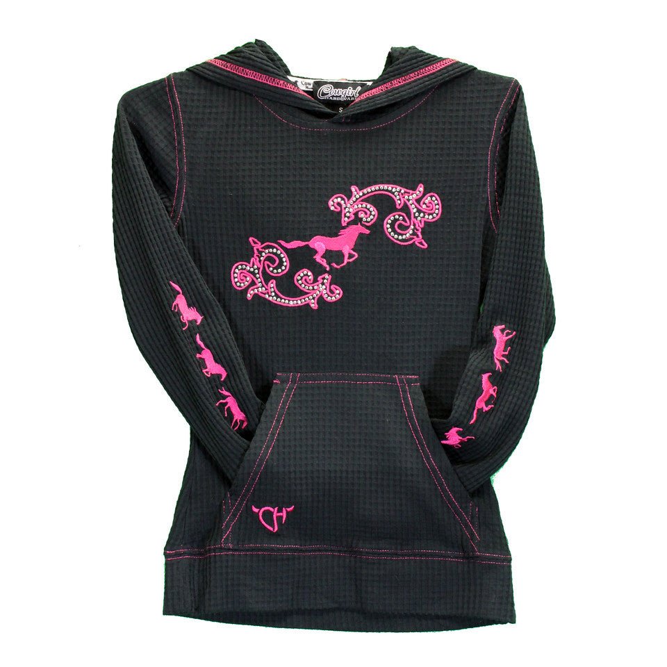 Cowgirl Hardware Girls Horse Swirl Pullover