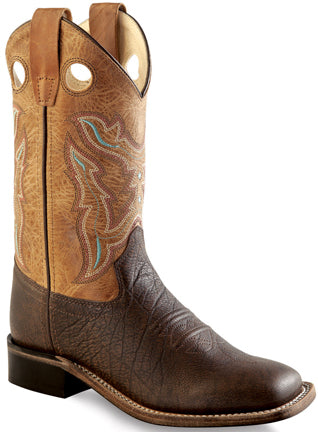 Old West Youth Chocolate Brown Cowboy Boot #BSY1819