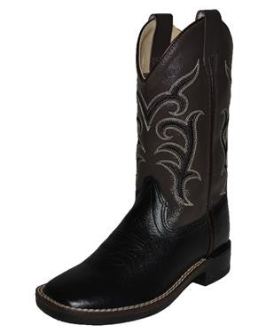 Jama Old West Youth Black Square Toe Boots BSY1856