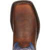 Durango Big Kid Dark Brown & Blue Western Boot #DWBT053