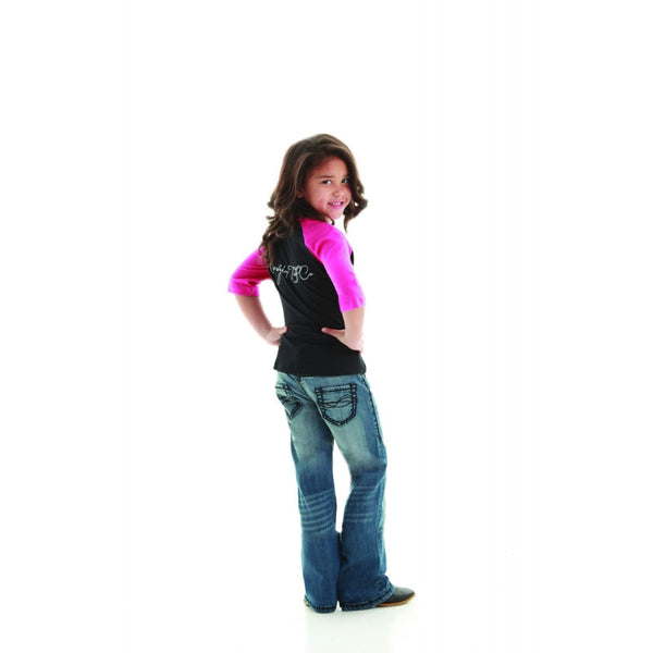 Cowgirl Tuff Girl's Don't Fence Me In Black Jean