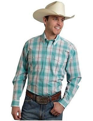 Roper Shirt Men Long Sleeve Amarillo Green