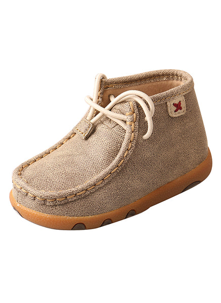 Twisted X Infant Driving Moccasins – Dusty Tan