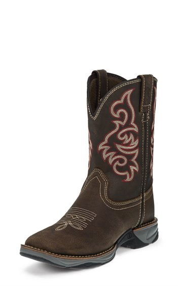Tony Lama Kid's Spindletop Brown Cowboy Boot