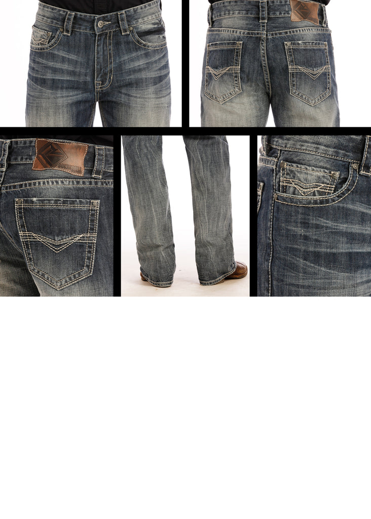 Rock & Roll Denim Mens Double Barrel Straight Jean