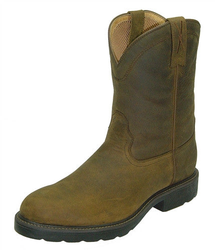 Twisted X Mens Distressed Saddle Work Boot