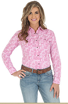 Wrangler Tough Enough to Wear Pink Long Sleeve