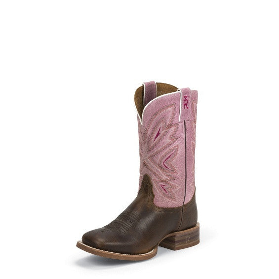 Tony Lama Womens Tan Cuero 3R Stockman Boots